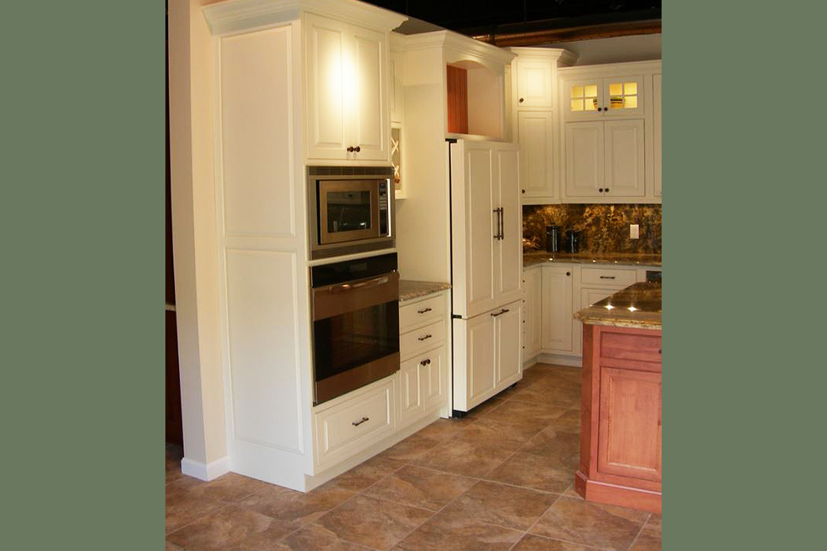 Painted White Maple Cabinet Kitchen
