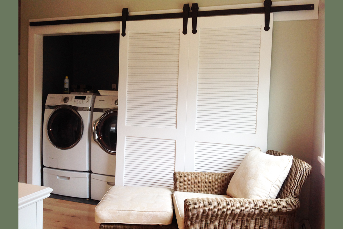 Laundry with Barn Doors