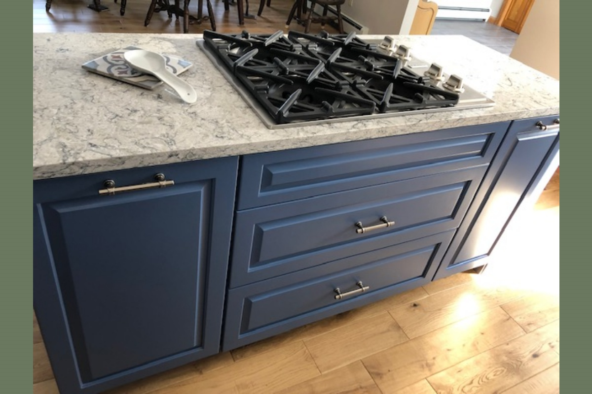 Custom Blue Kitchen Remodel