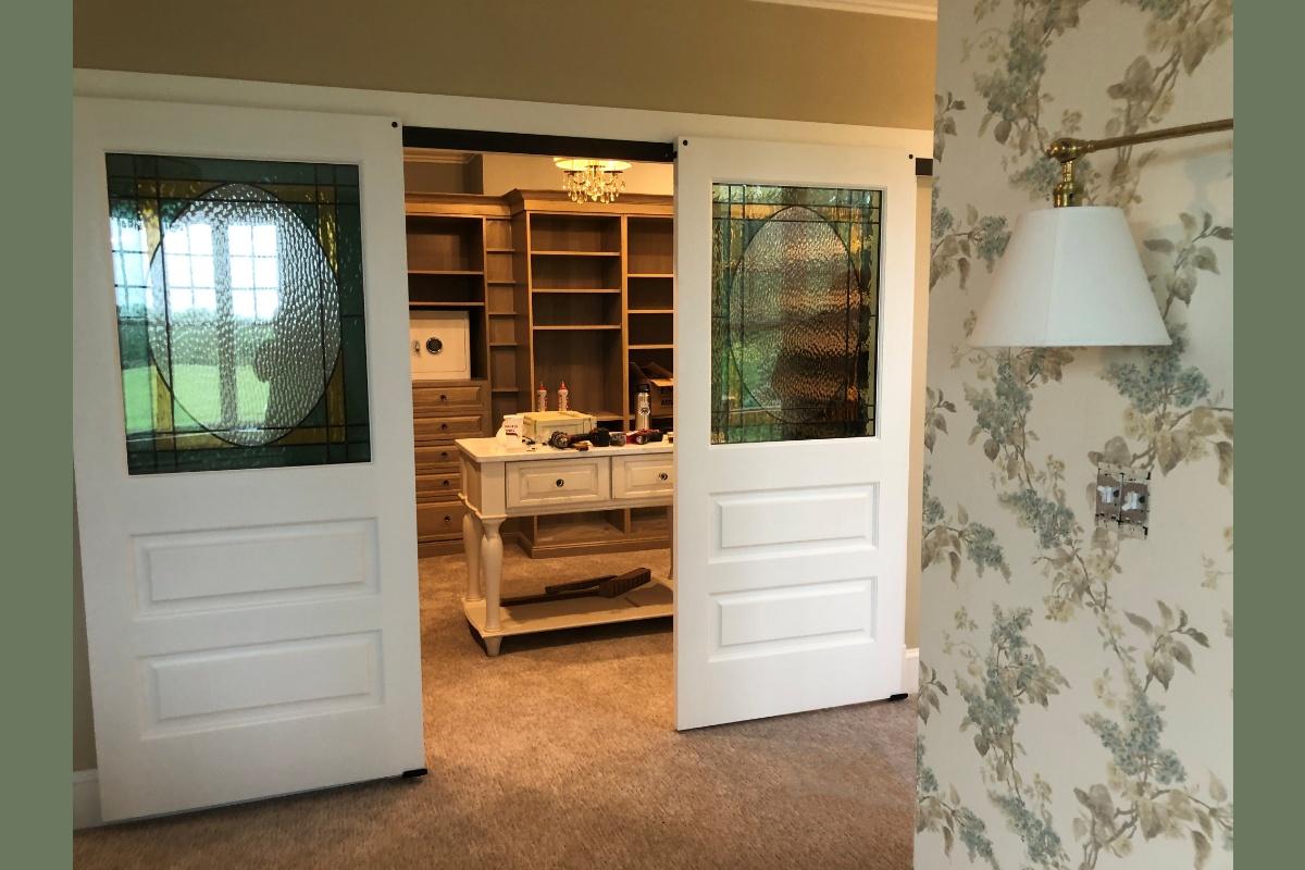 Custom Stained Glass Closet Barn Doors